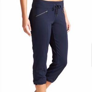 Athleta navy blue metro slouch capri pants